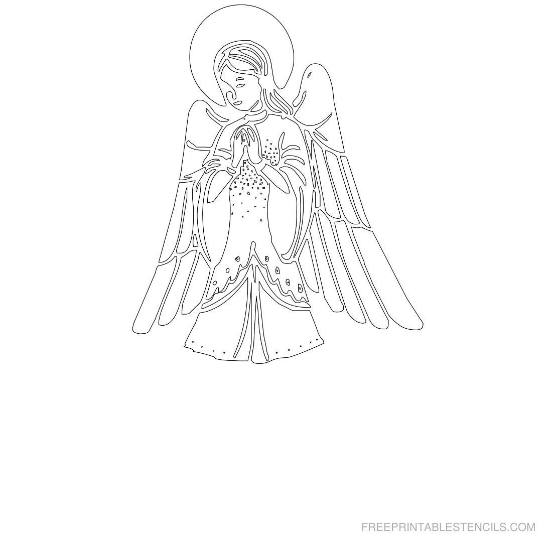 Free Printable Angel Stencil U