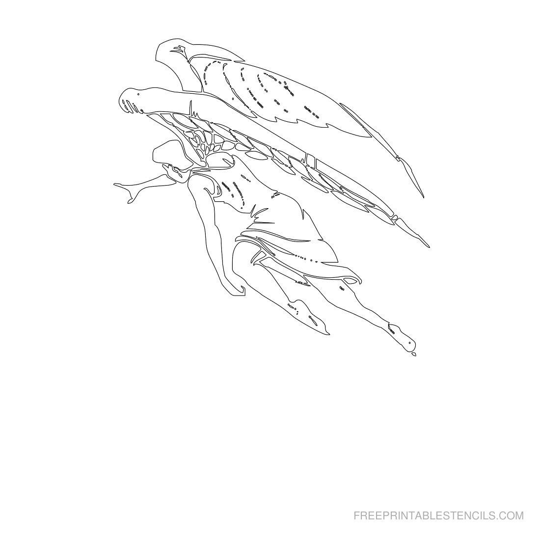 Free Printable Angel Stencil V