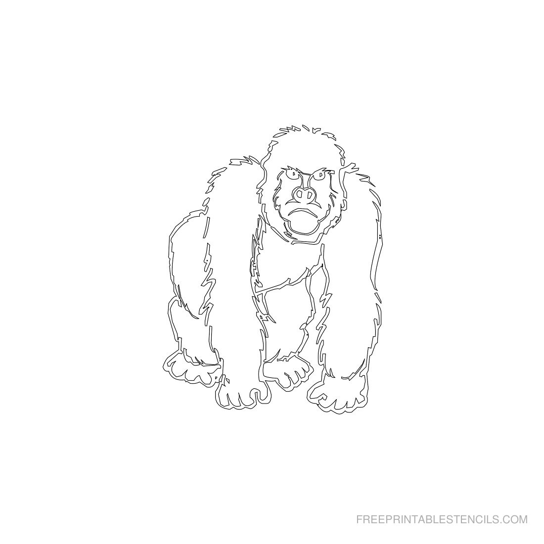 Free Printable Animal Stencil Gorilla