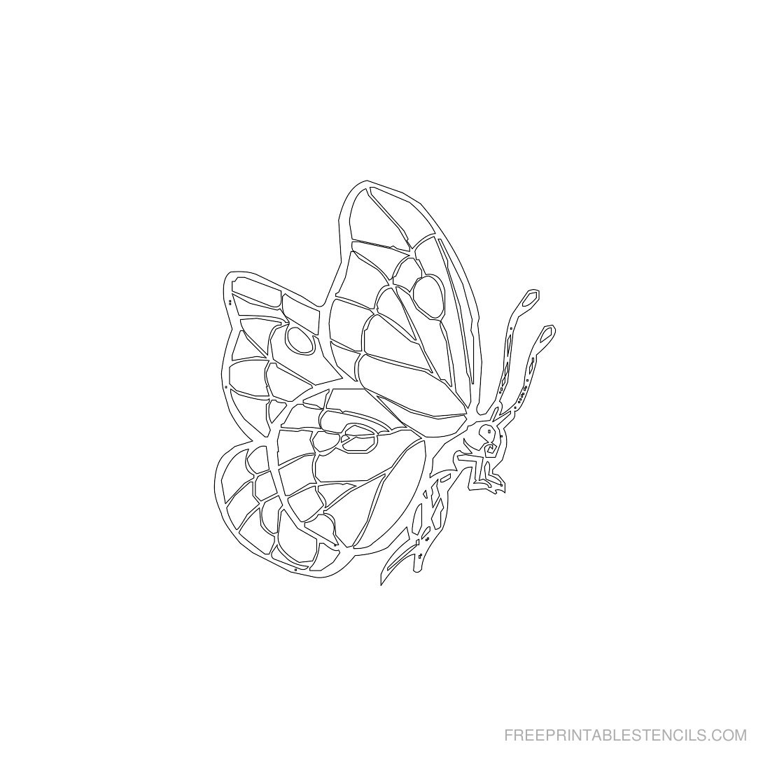 Free Printable Animal Stencil Butterfly