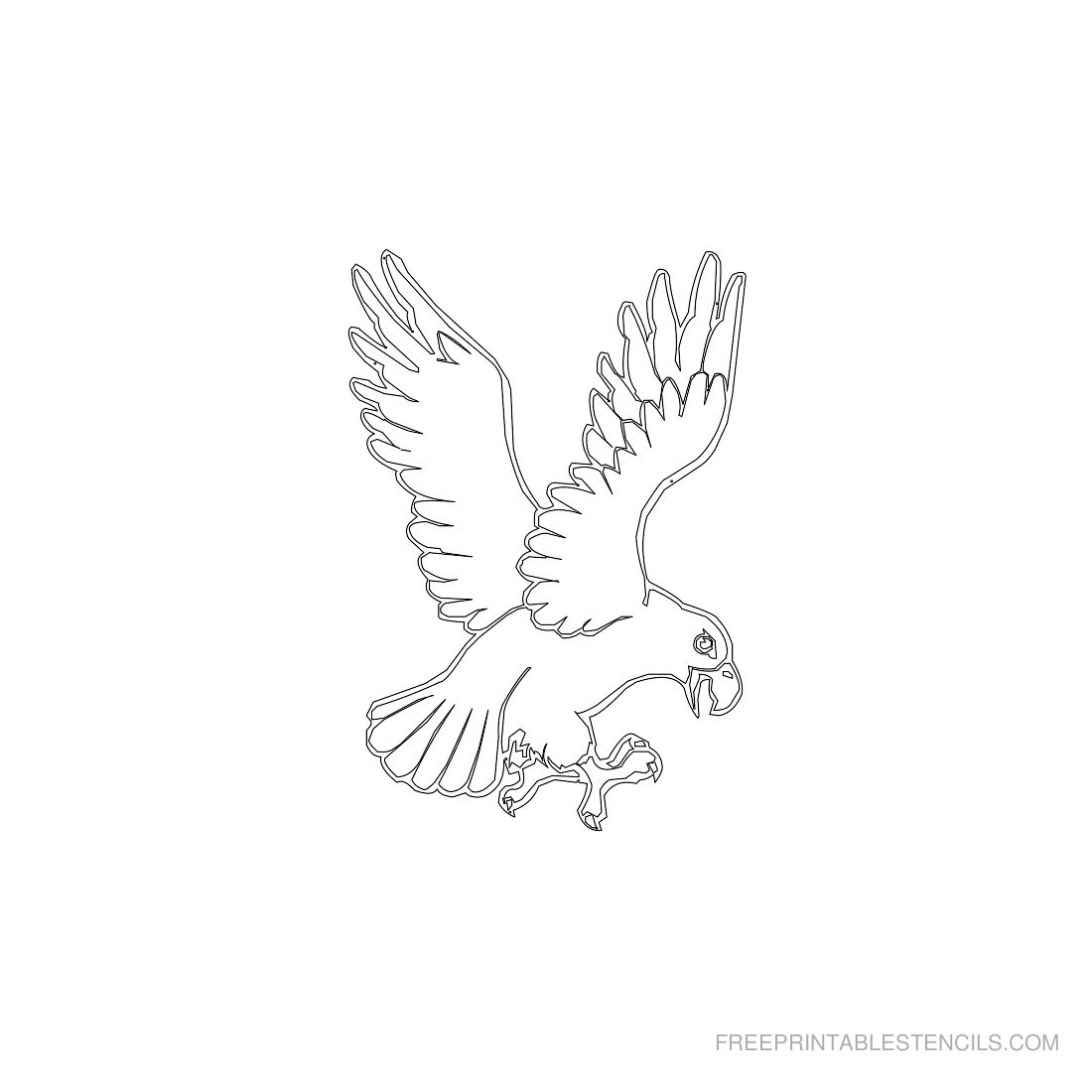Free Printable Animal Stencil Eagle