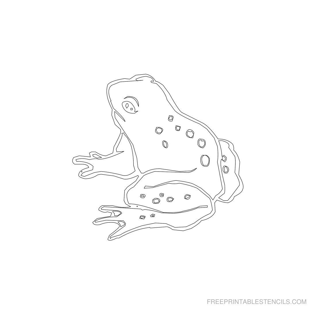 Free Printable Animal Stencil Frog