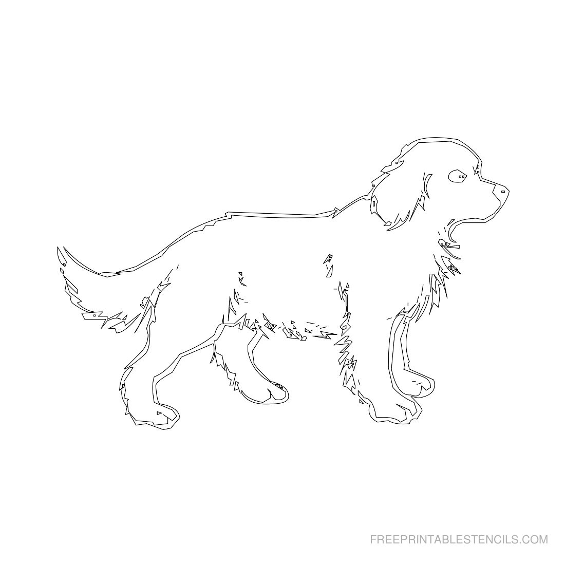 Free Printable Animal Stencil Dog
