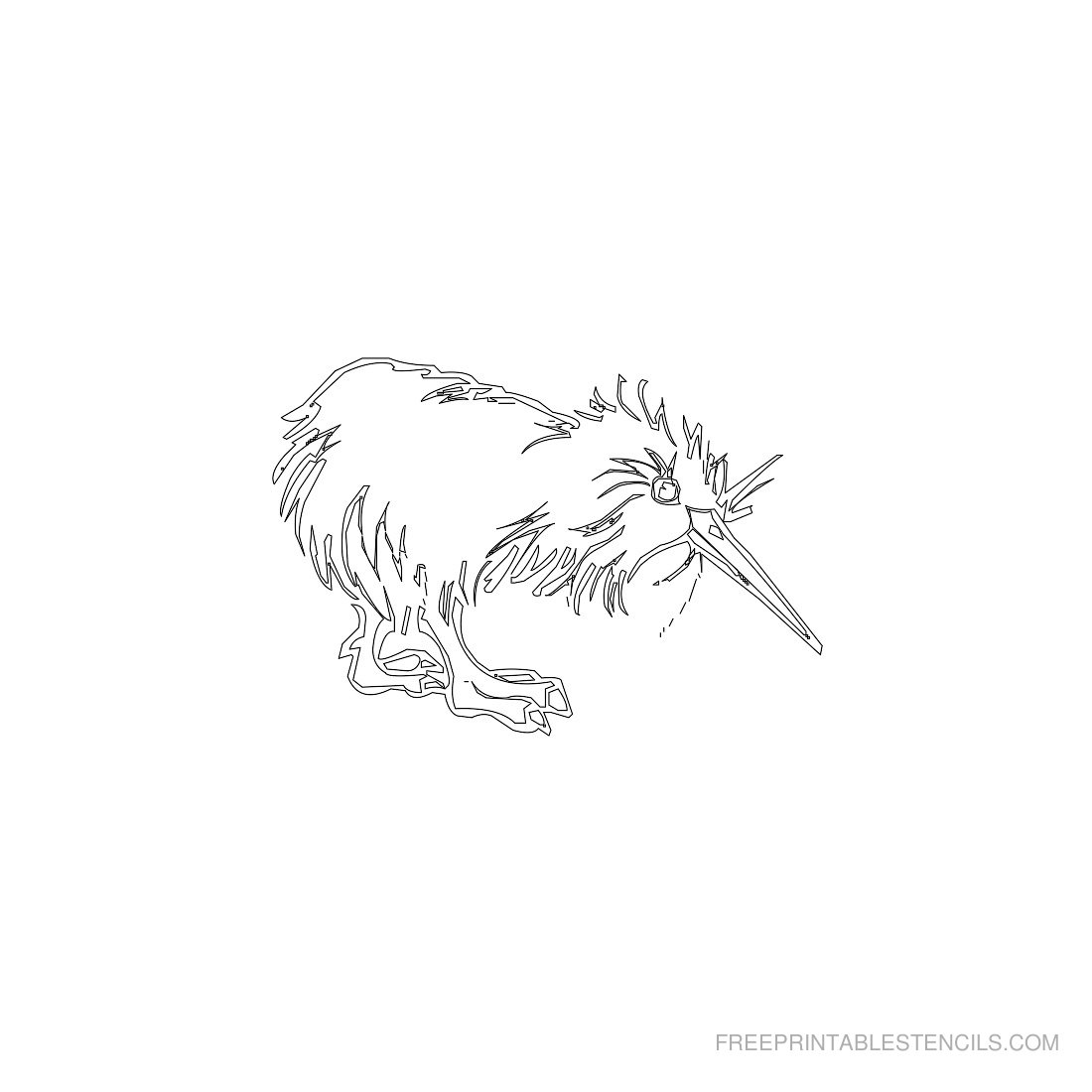 Free Printable Animal Stencil Kiwi Bird