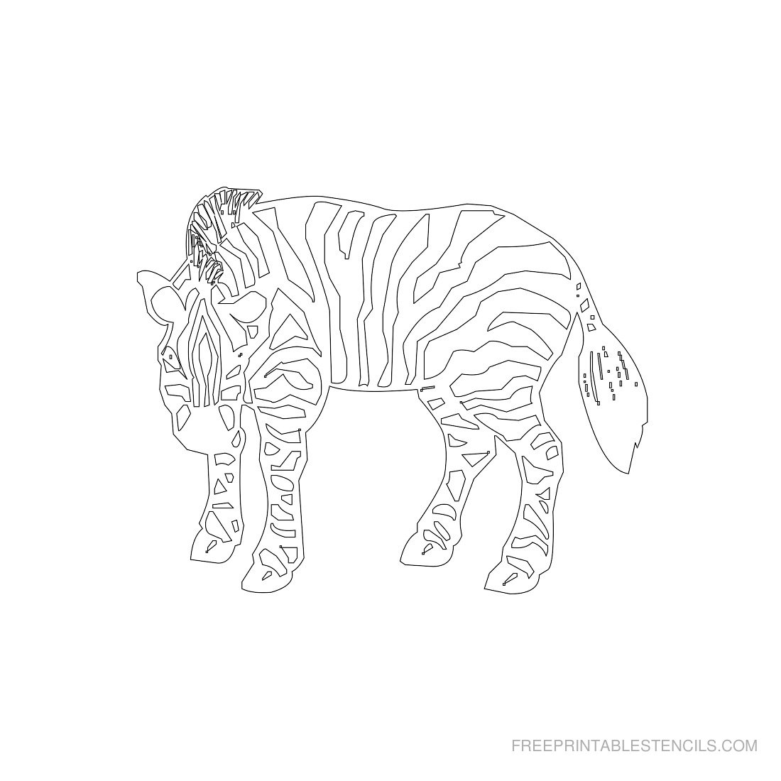 Free Printable Animal Stencil Zebra