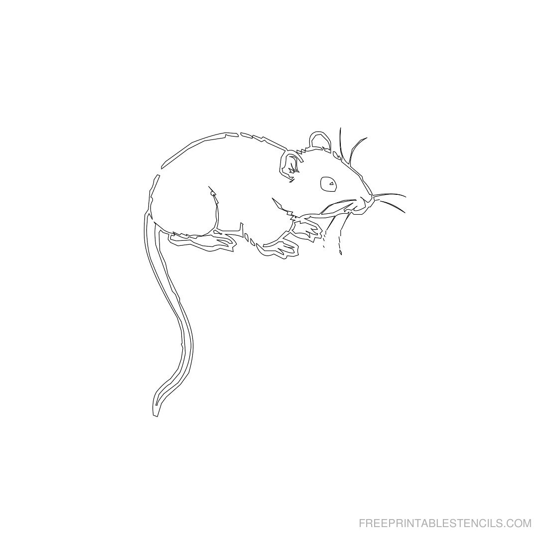 Free Printable Animal Stencil Mouse