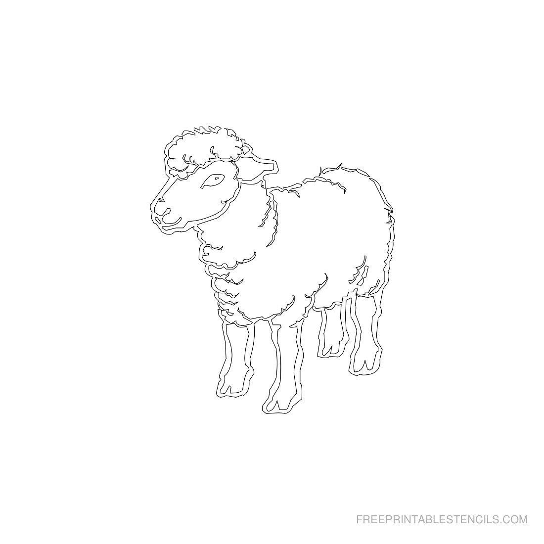 Free Printable Animal Stencil Sheep