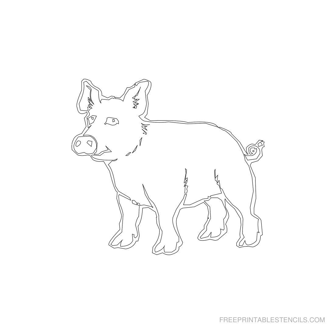 Free Printable Animal Stencil Pig