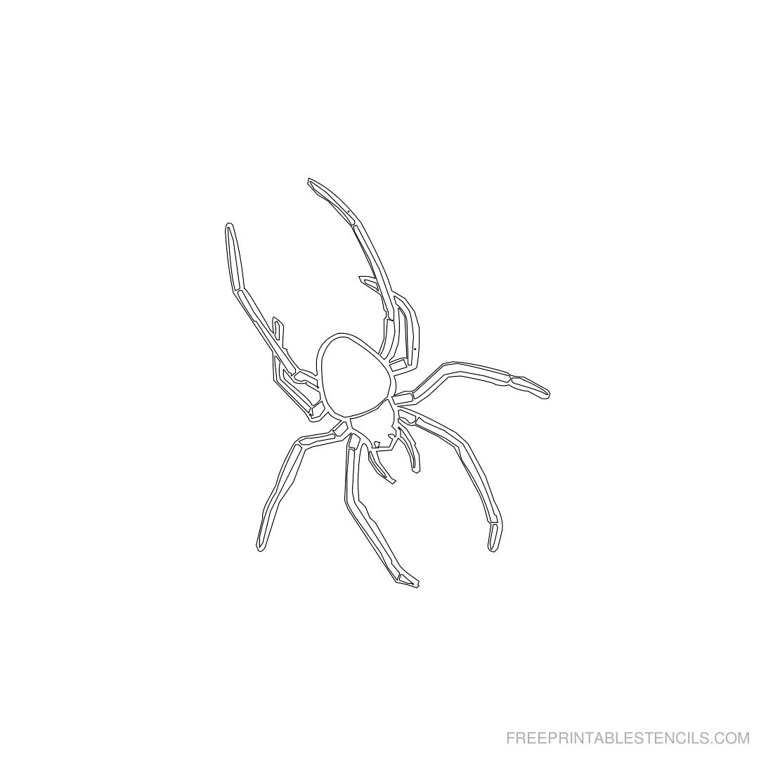Free Printable Animal Stencil Spider