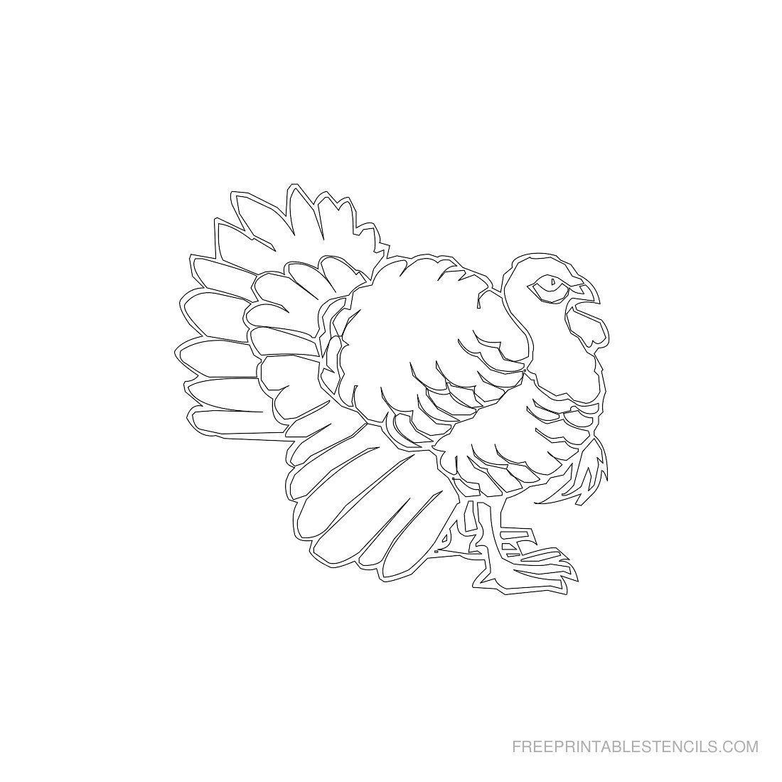 Free Printable Animal Stencil Rooster
