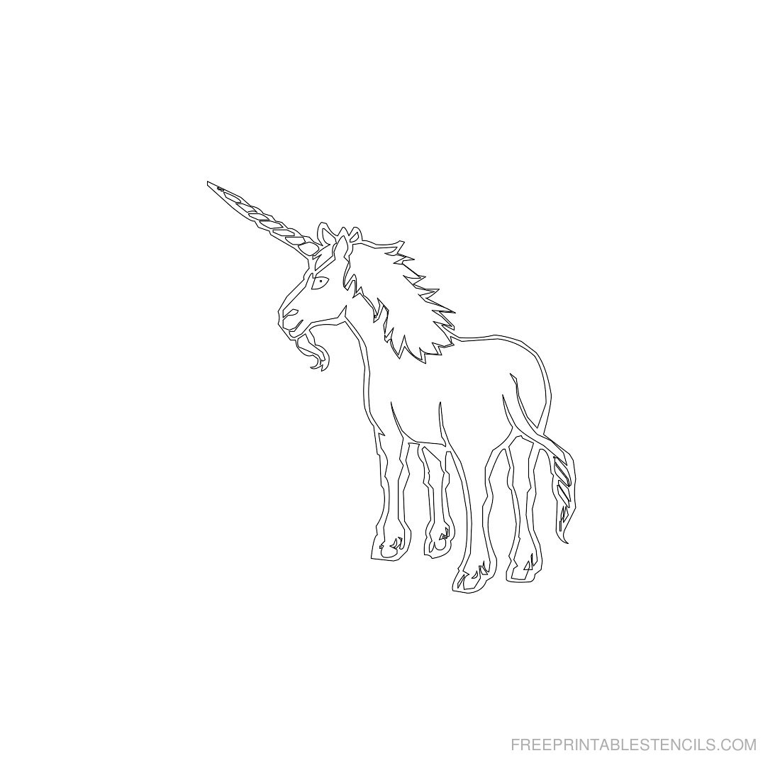 Free Printable Animal Stencil Unicorn