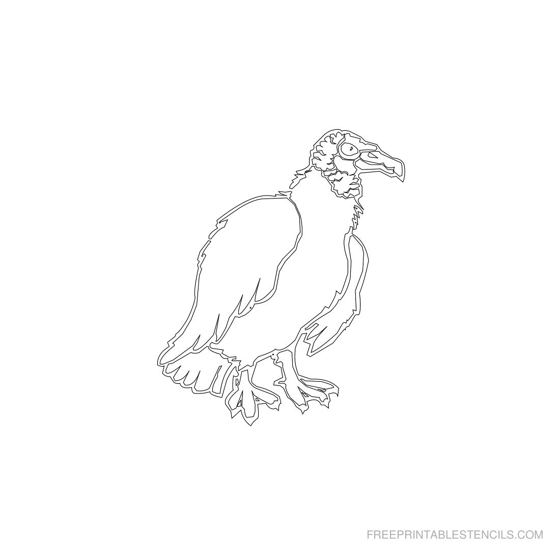 Free Printable Animal Stencil Vulture