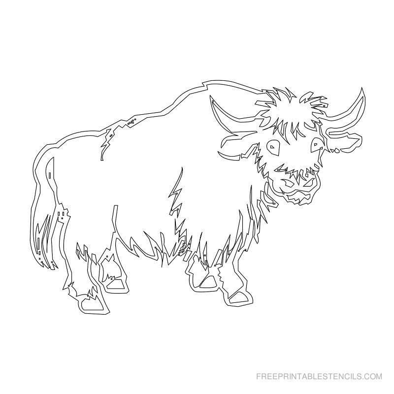 Free Printable Animal Stencil Buffalo