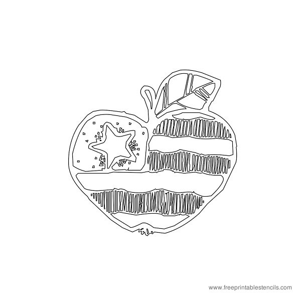 Christmas Printable Stencil Apple