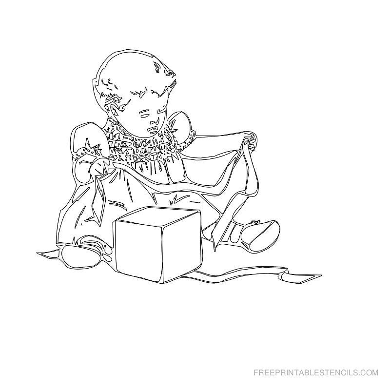 Free Printable Baby Stencil A