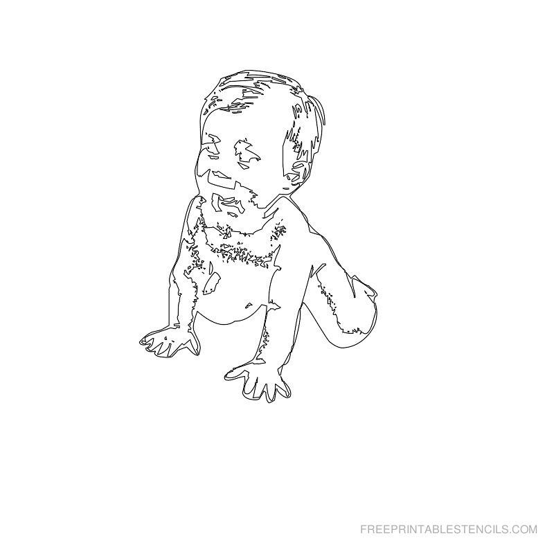Free Printable Baby Stencil B