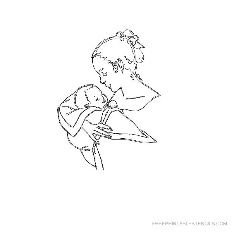 Free Printable Baby Stencil H