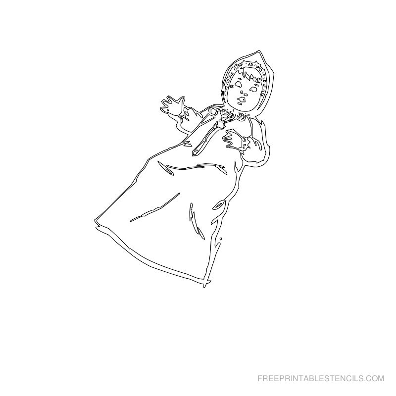 Free Printable Baby Stencil J