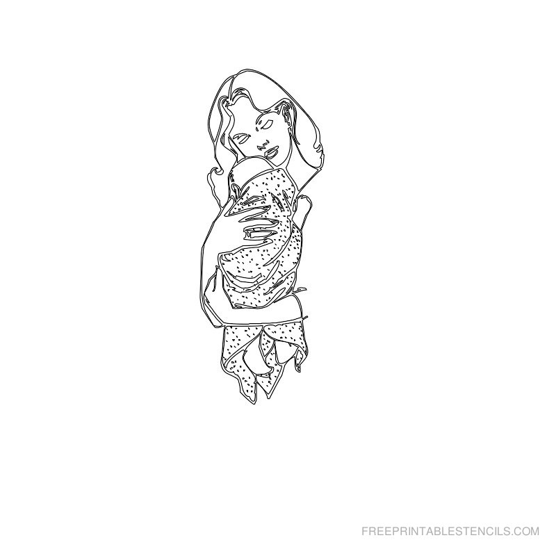 Free Printable Baby Stencil K
