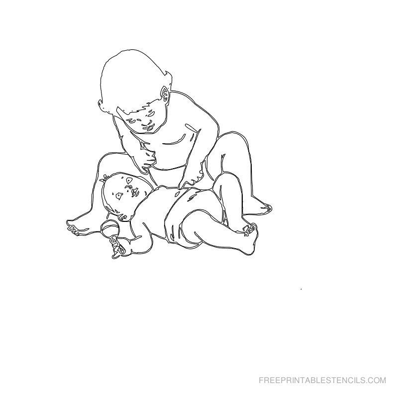 Free Printable Baby Stencil M