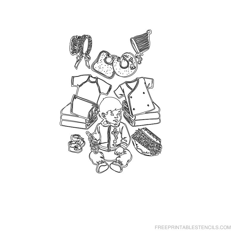 Free Printable Baby Stencil N