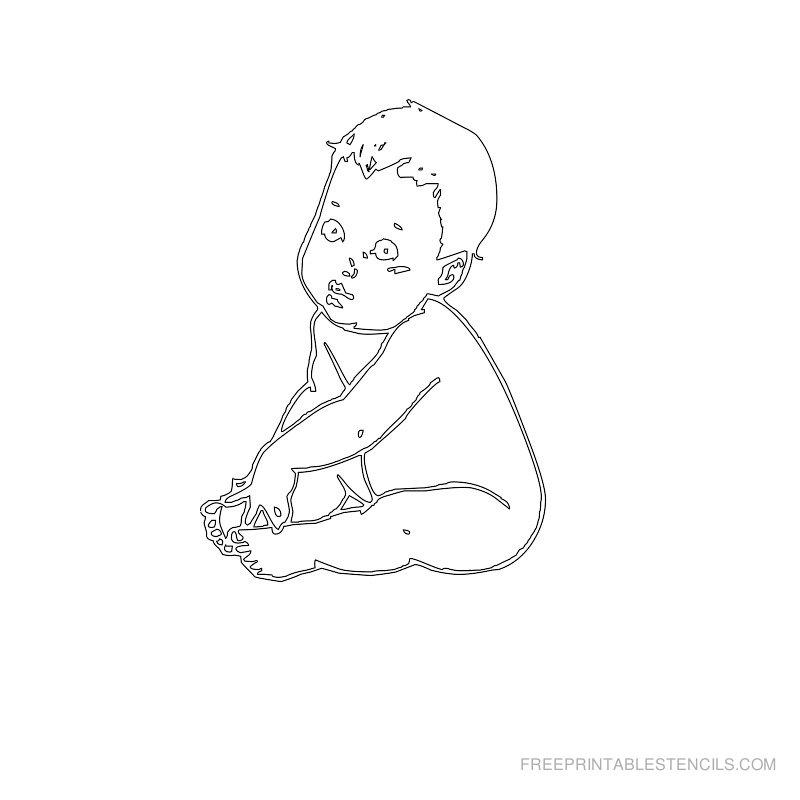 Free Printable Baby Stencil Q
