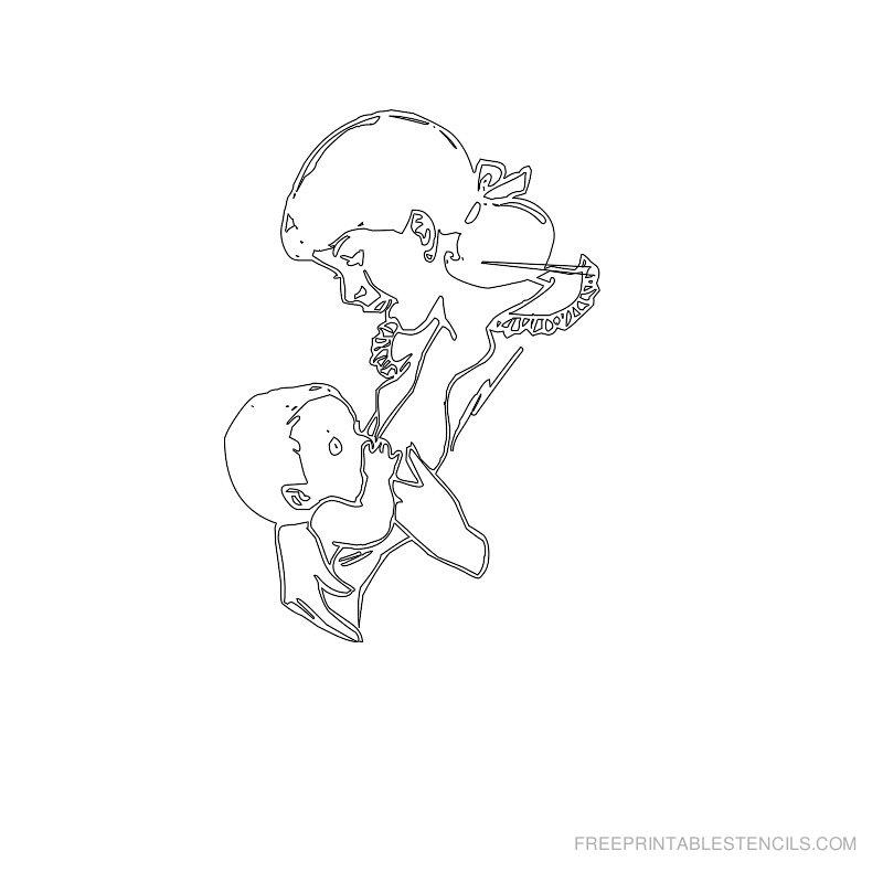 Free Printable Baby Stencil T