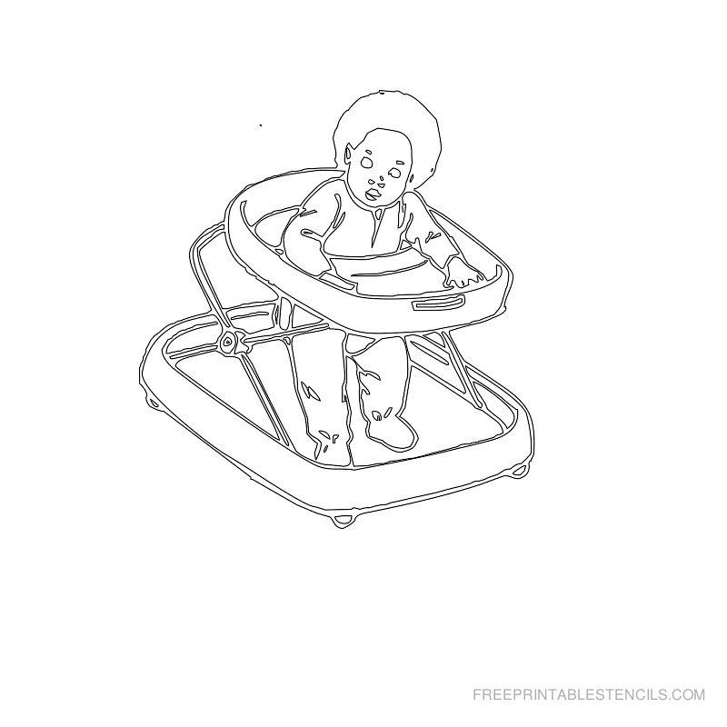 Free Printable Baby Stencil U