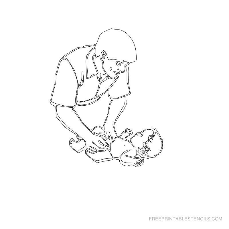 Free Printable Baby Stencil W
