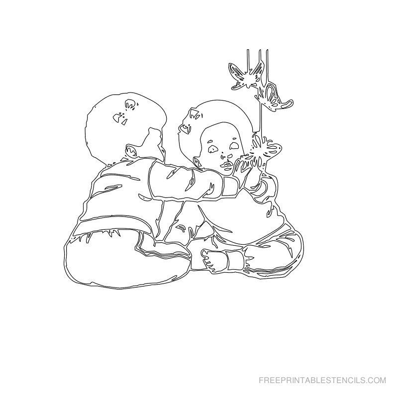Free Printable Baby Stencil X
