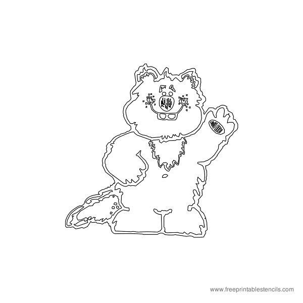 Christmas Printable Stencil Bear
