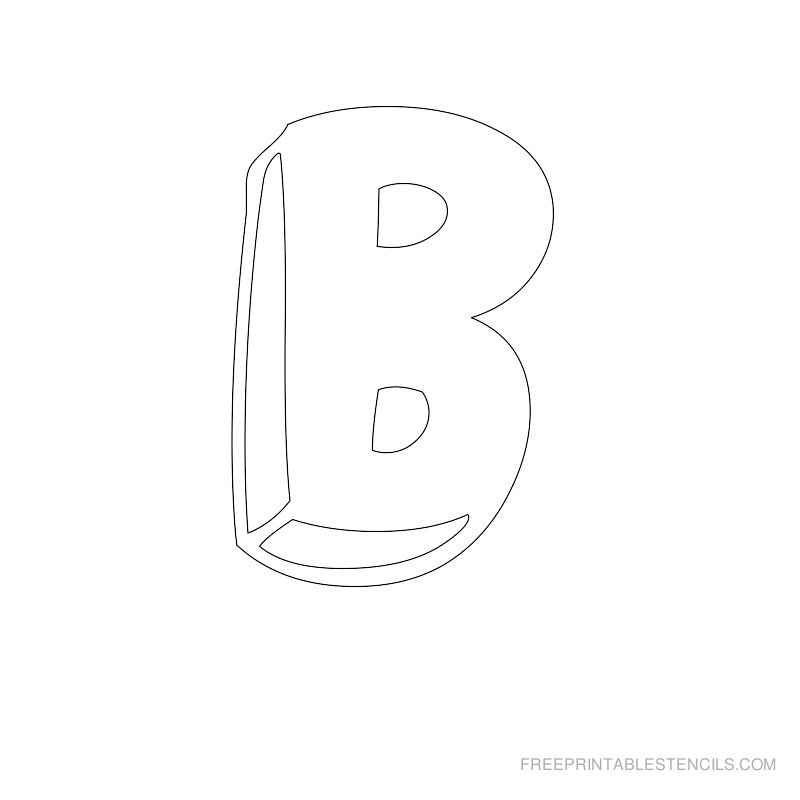 Printable Bubble Letter Stencil B