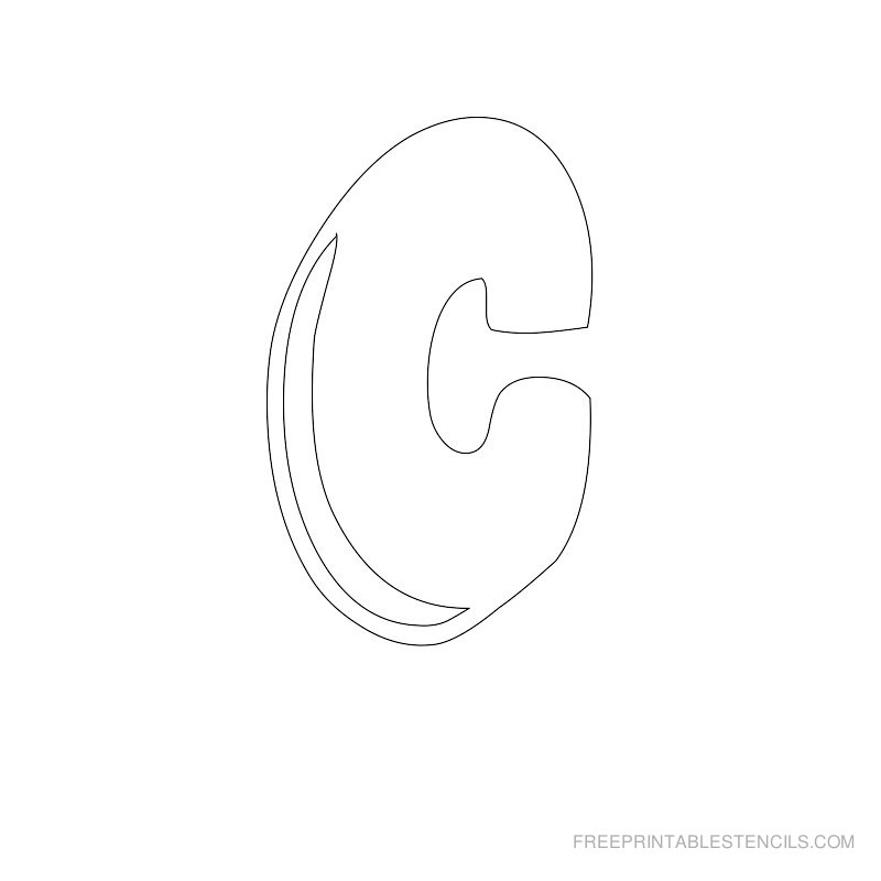 Printable Bubble Letter Stencil C