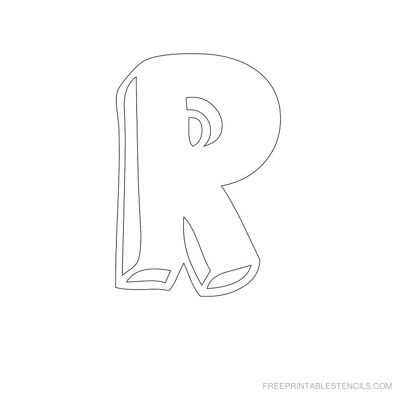 Printable Bubble Letter Stencil R