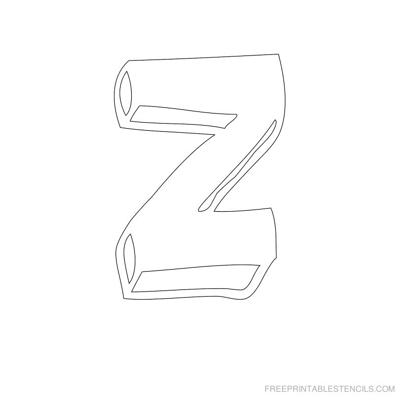 Printable Bubble Letter Stencil Z
