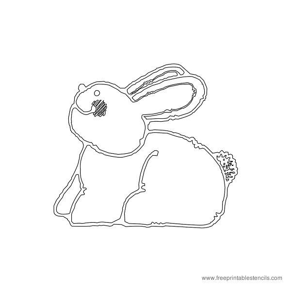Christmas Printable Stencil Bunny