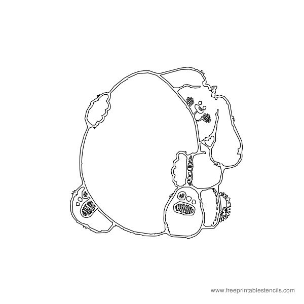 Christmas Printable Stencil Bunny with Egg
