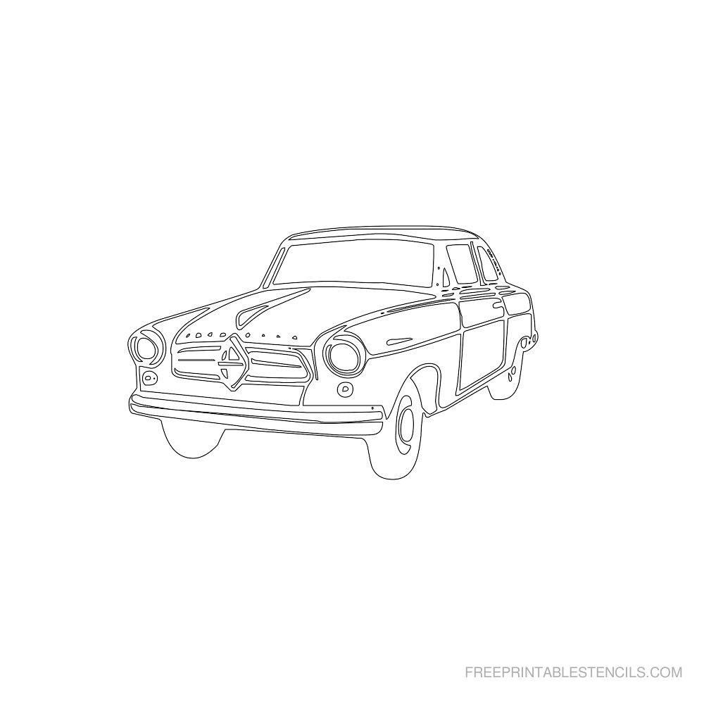Free Printable Car Stencil A
