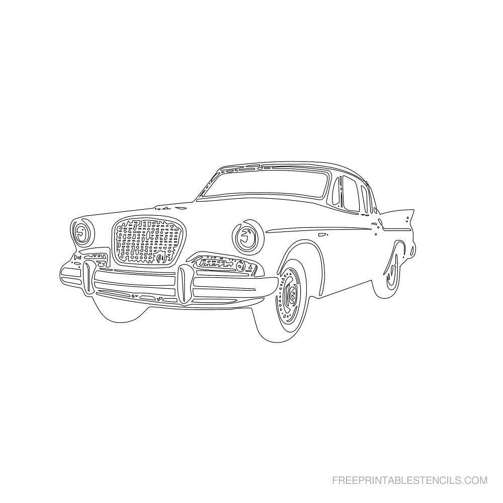 Free Printable Car Stencil B