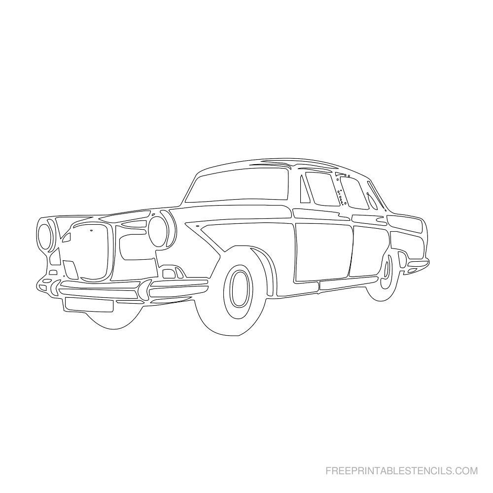 Free Printable Car Stencil C