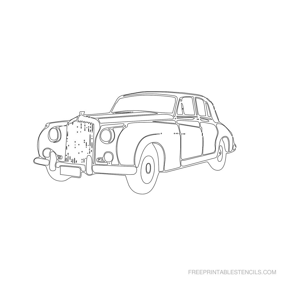 Free Printable Car Stencil D