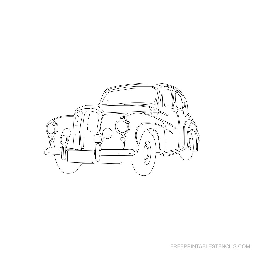 Free Printable Car Stencil E