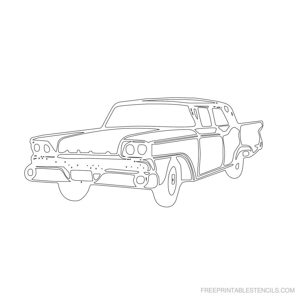 Free Printable Car Stencil F