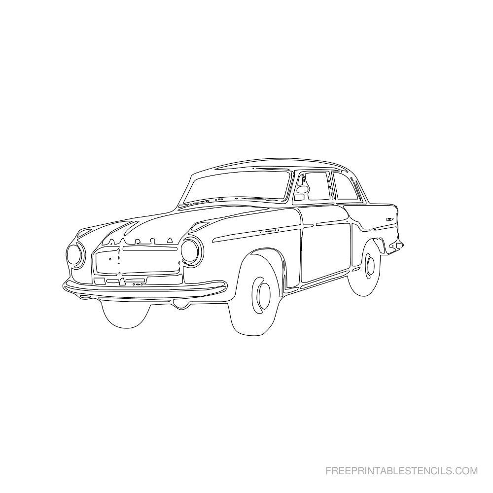Free Printable Car Stencil G