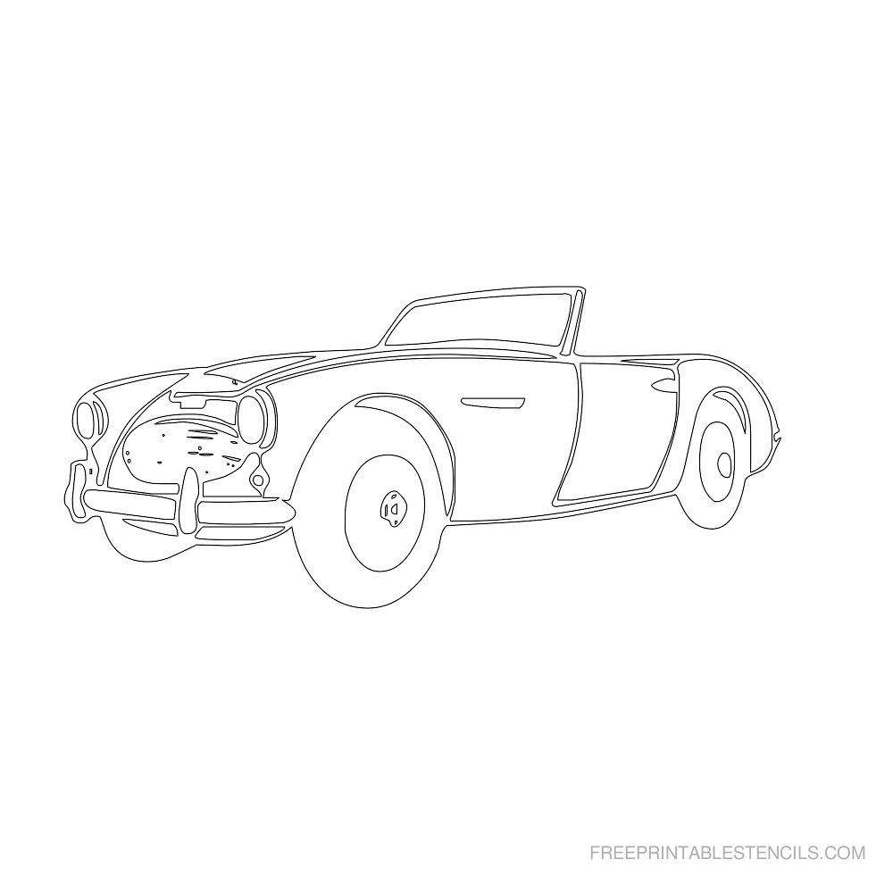 Free Printable Car Stencil H