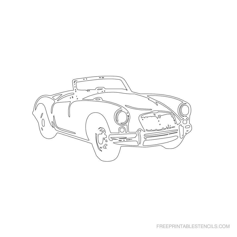 Free Printable Car Stencil J