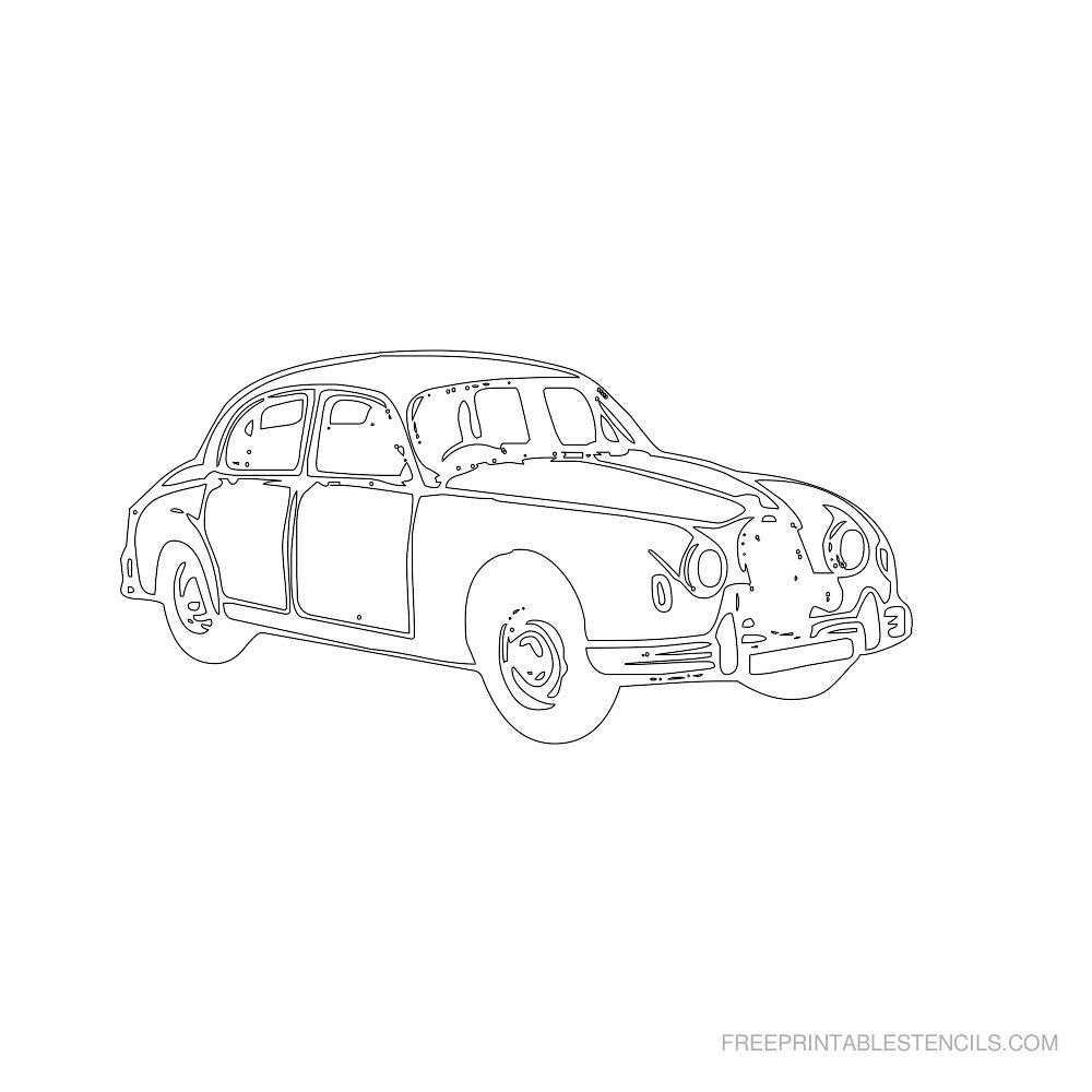 Free Printable Car Stencil K