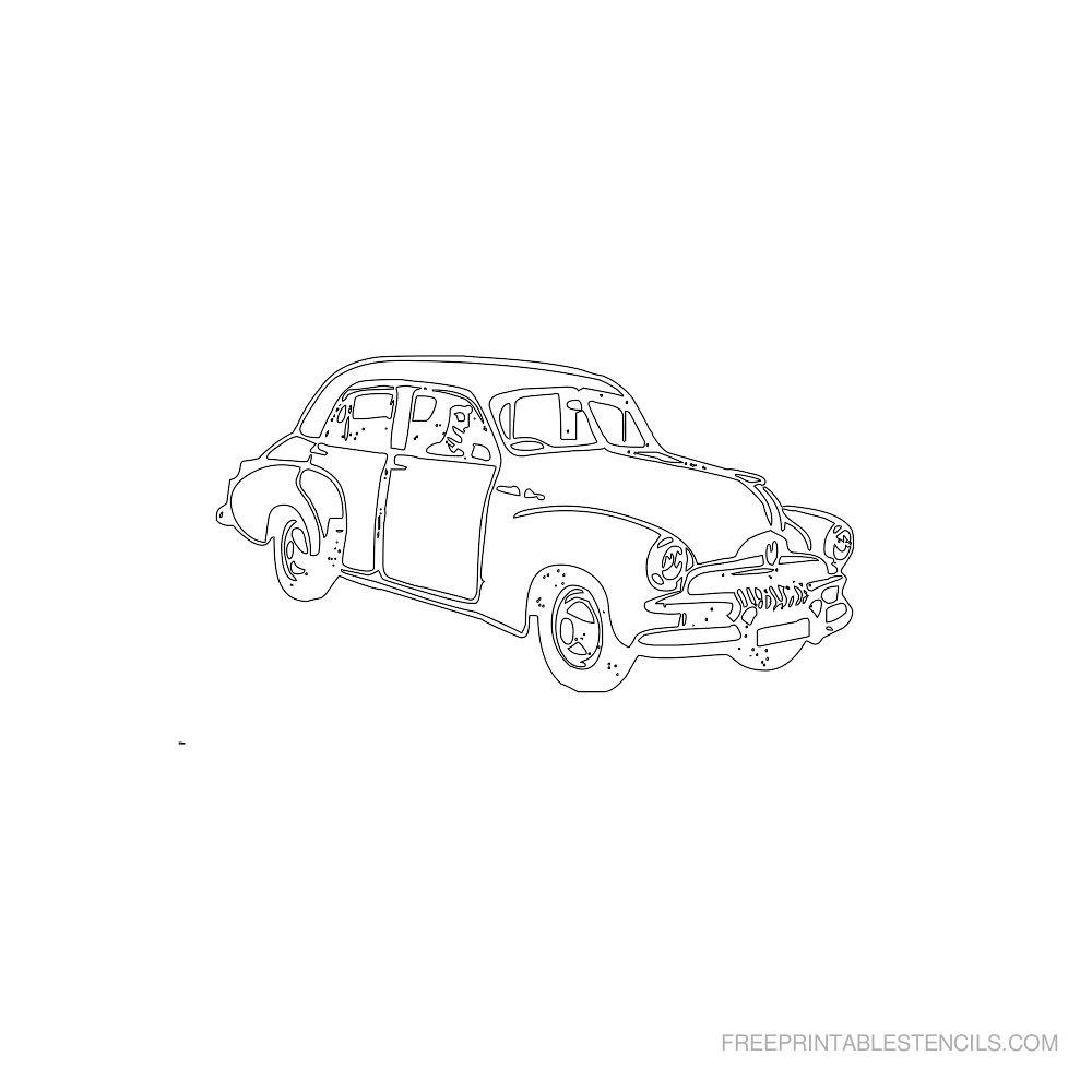 Free Printable Car Stencil L