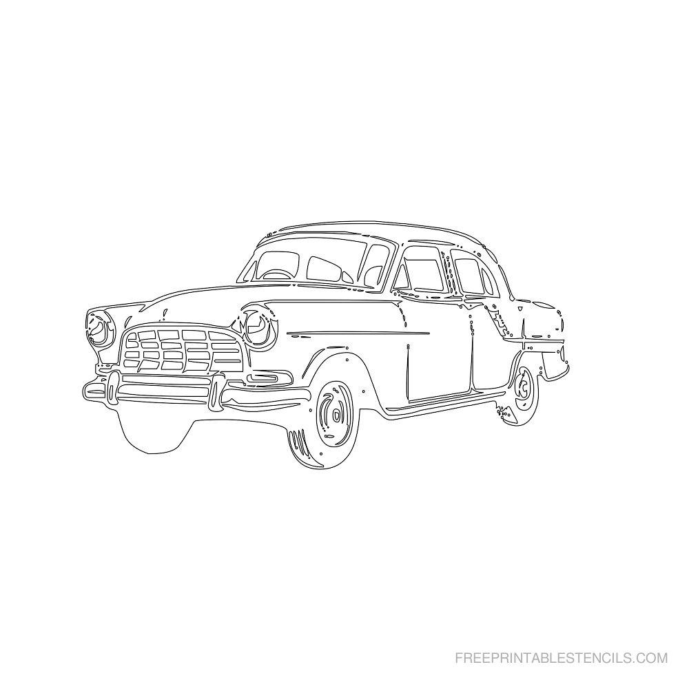 Free Printable Car Stencil M