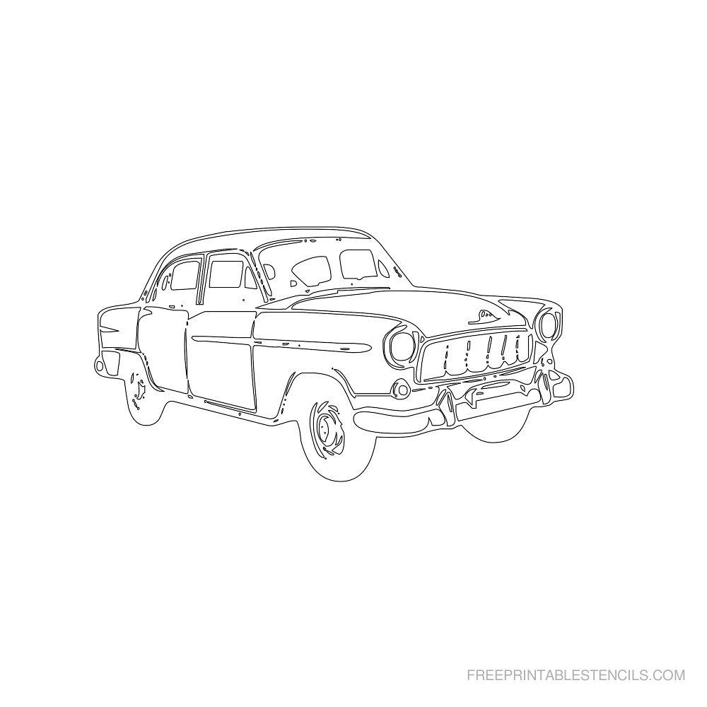 Free Printable Car Stencil N